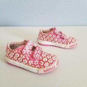 Lelli Kelly Pink Floral Beaded Baby Girl Sneakers